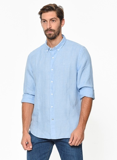 Timberland Ls Mill River Linen Shirt Slim Mavi